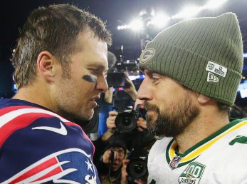 Tom Brady y Aaron Rodgers