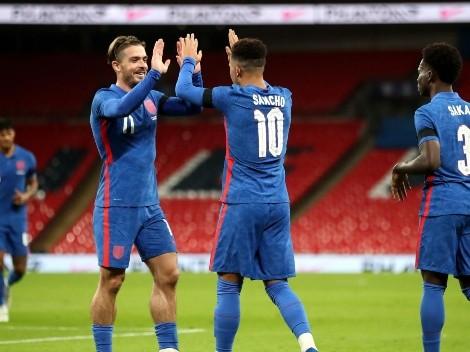 Grealish durmió el balón, asistió y Sancho clavó un golazo para Inglaterra