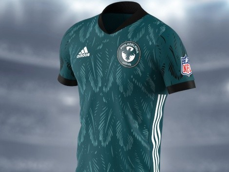 The Philadelphia Eagles fly high with these soccer-inspired jerseys