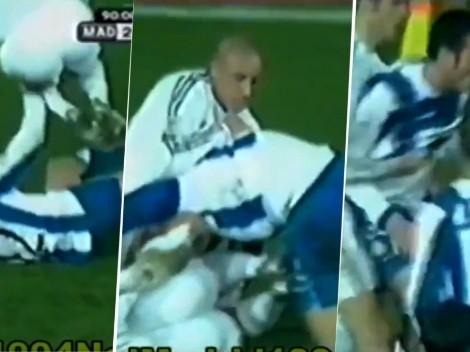 Video viral: el día que Scaloni se agarró a las piñas con Beckham y Roberto Carlos
