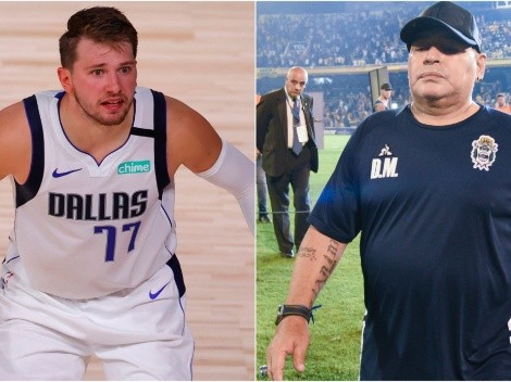 Luka Doncic pays respects to Diego Maradona
