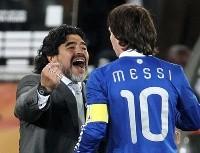 """El último adiós de Messi a Maradona: """"Diego es eterno"""""""