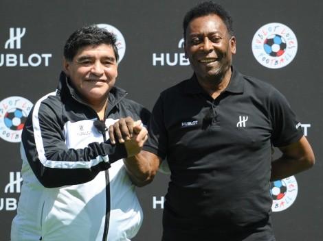 Pelé reacts to the death of Diego Maradona