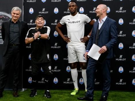 """Descanse en paz, Leyenda"": Usaín Bolt brinda tributo a Diego Maradona"