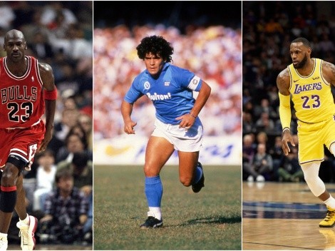 """I love basketball"": When Diego Maradona named his three favorite NBA players"
