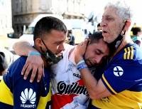 Uniste el país, Diego: el video del abrazo entre un hincha de Boca y de River