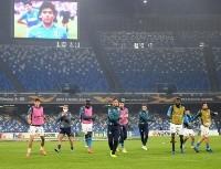 A lo Maradona: así fue la entrada en calor del Napoli por la Europa League