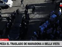 Video: Diego Maradona se fue de Casa Rosada con el aliento de todo el pueblo