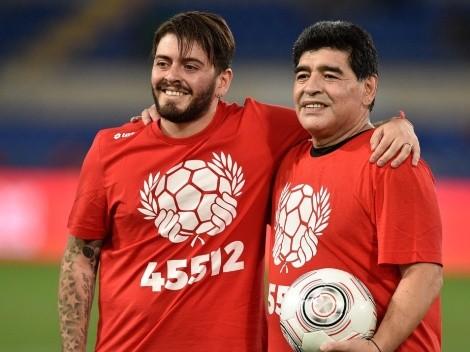 Doente, filho de Diego Maradona não comparece ao velório do pai