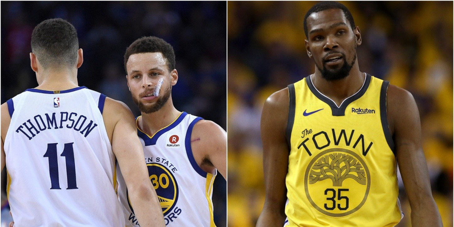 Stephen Curry, Klay Thompson y Kevin Durant, Golden State Warriors