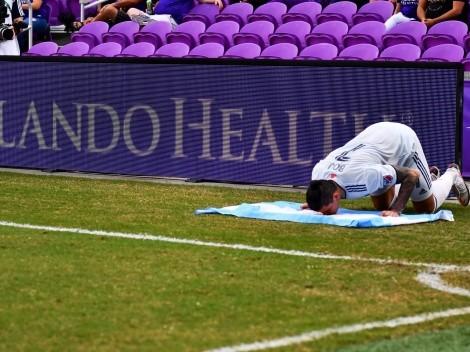 Emocionante: Bou no se olvidó de Maradona y le dedicó su gol en la MLS