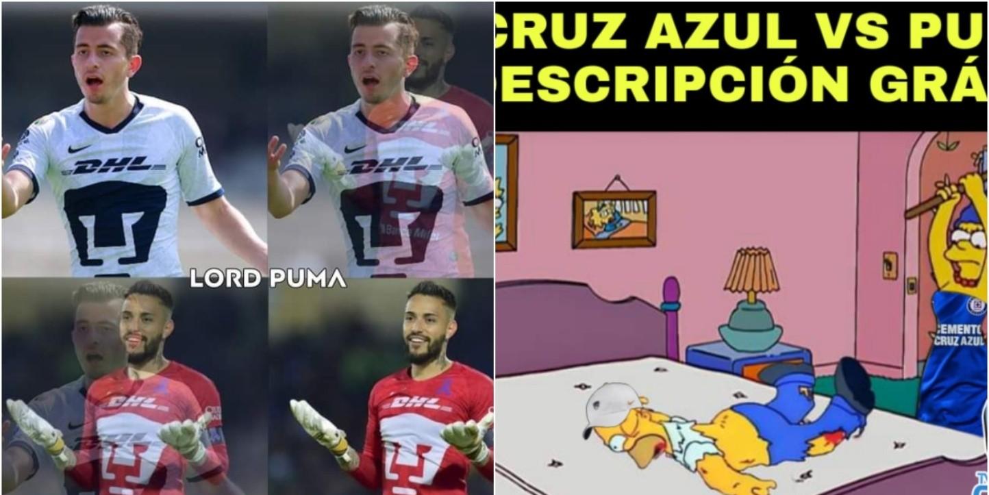 Cruz Azul vs. Pumas   Los memes de la goleada de Cruz Azul ...