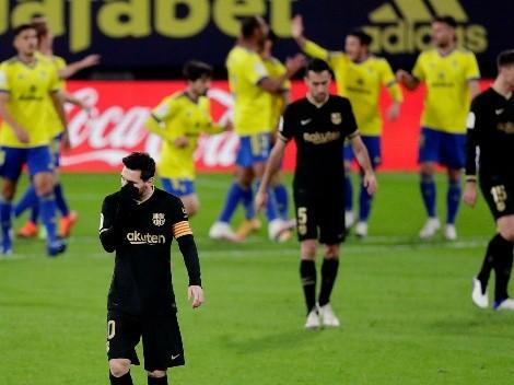Histórico: Barcelona tuvo un partido para el olvido y Cádiz le ganó 2 a 1