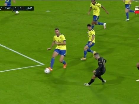 Jordi Alba y la suerte ayudaron al Barcelona a poner el 1 a 1