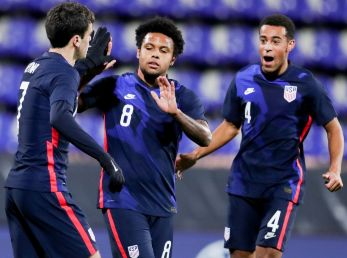 Gio Reyna, Weston McKennie y Tyler Adams