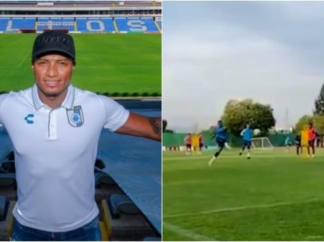 Para el América: Valencia marcó un golazo en el entrenamiento