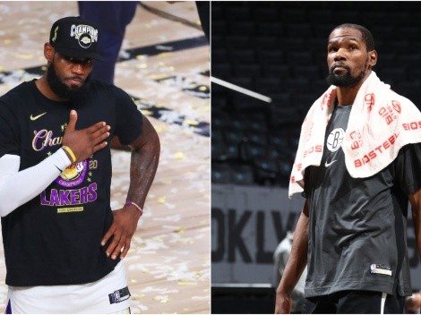 LeBron James has the perfect reaction to Kevin Durant's return to the NBA