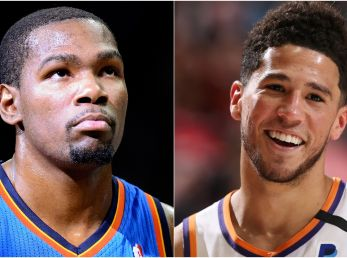 Kevin Durant y Devin Booker