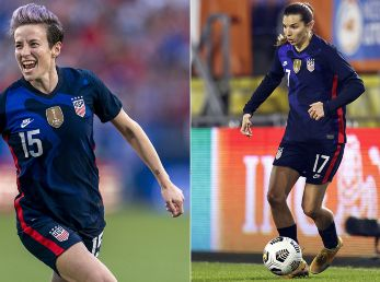 Megan Rapinoe y Tobin Heath