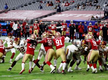 San Francisco 49ers jugando en Arizona