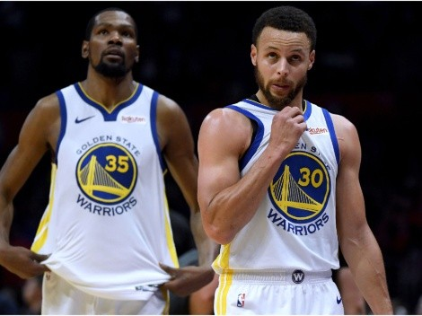 Kevin Durant, Stephen Curry exchange big messages before Nets-Warriors game