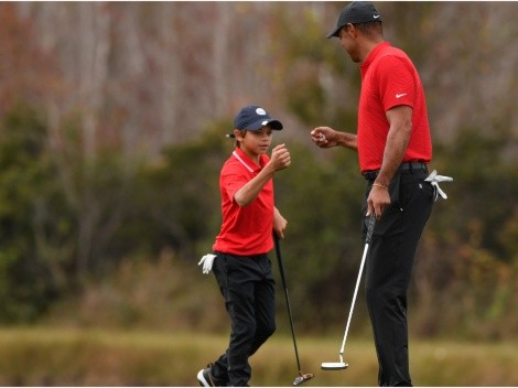 Tiger Woods' son Charlie has everybody in awe after showcasing same mannerisms as his father