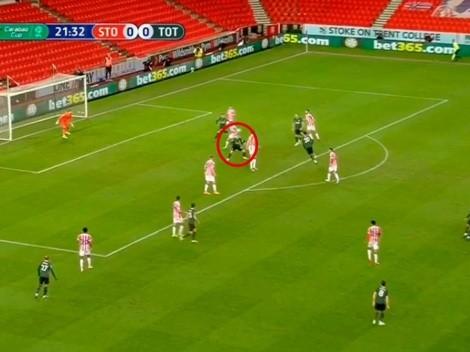 Con la cabeza y de espaldas al arco: golazo de Bale para el Tottenham