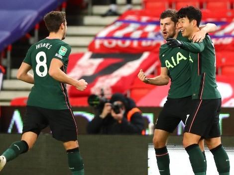 Tottenham le ganó 3 a 1 al Stoke City y pasó a las semifinales de la Carabao Cup