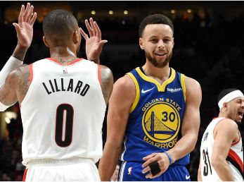 Damian Lillard y Stephen Curry