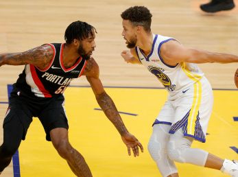 Golden State Warriors vs. Portland Trail Blazers juegan por la NBA este domingo. (Getty Images)