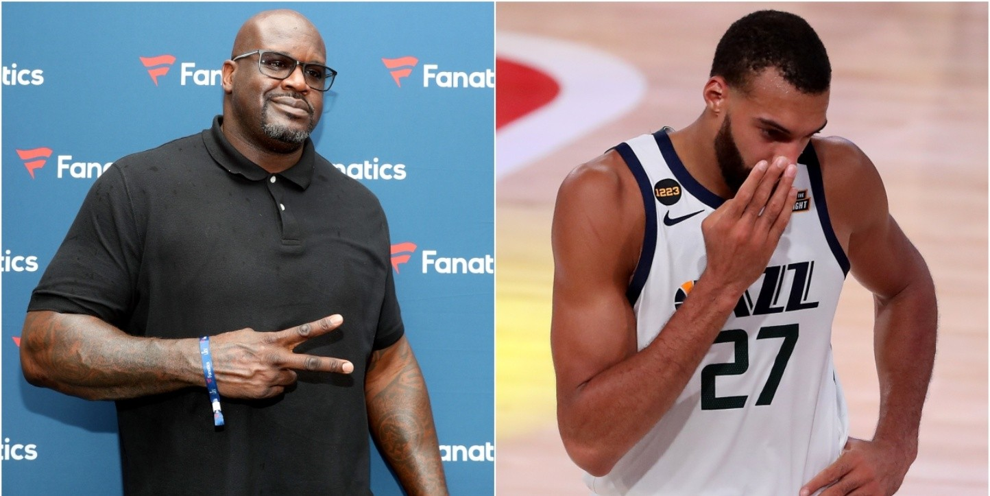 Shaquille O'Neal y Rudy Gobert