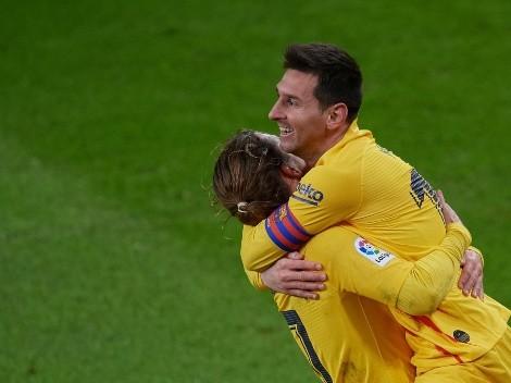 Messi recuperó la sonrisa: metió un doblete y lo disfrutó Barcelona