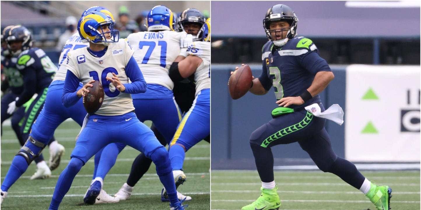 Jared Goff y Russell Wilson