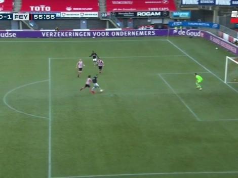 Video: Pratto erró un gol increíble en su debut en Feyenoord