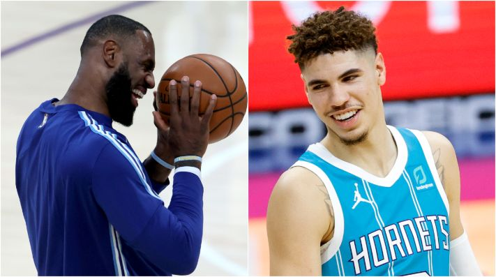 LeBron James y LaMelo Ball