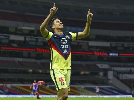 Diego Lainez felicitó a su hermano Mauro por el debut goleador con América