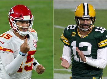 Patrick Mahomes y Aaron Rodgers