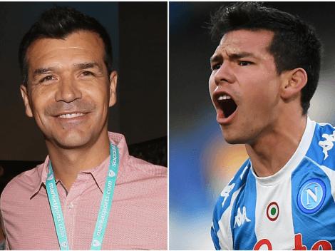 Jared Borgetti llenó de elogios a Chucky Lozano tras su golazo con Napoli