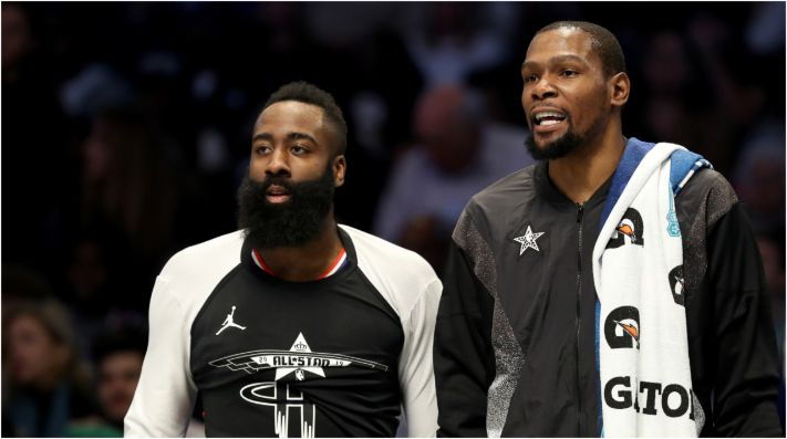 James Harden y Kevin Durant (Foto: Getty)