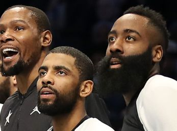 Kevin Durant, Kyrie Irving y James Harden