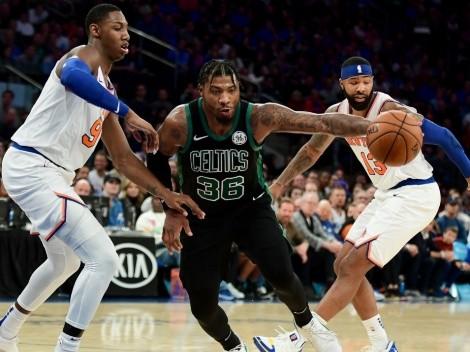 New York Knicks and Boston Celtics will clash off on Sunday