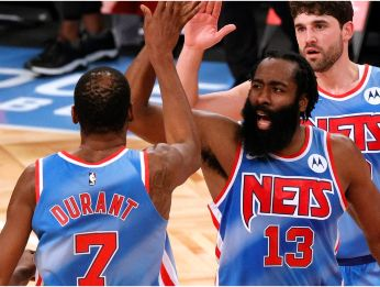 Kevin Durant y James Harden, Brooklyn Nets
