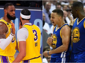 LeBron James, Anthony Davis, Stephen Curry y Draymond Green