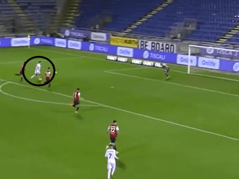 Video: Ibrahimovic, en llamas, cruzó el remate y selló su doblete ante Cagliari