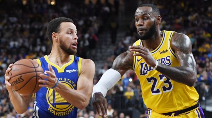 Stephen Curry y LeBron James