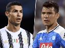 Cristiano Ronaldo y Chucky Lozano, Juventus vs. Napoli por la Supercopa de Italia