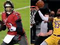 Tom Brady y LeBron James