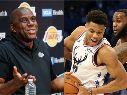 Magic Johnson, Giannis Antetokounmpo y LeBron James