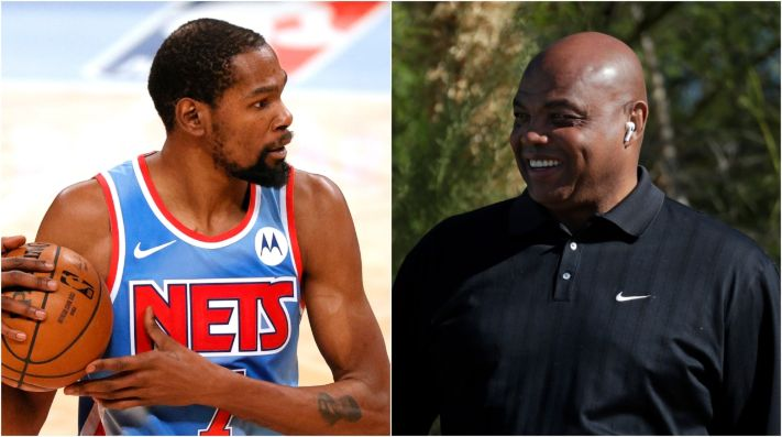 Kevin Durant y Charles Barkley