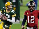Green Bay Packers vs. Tampa Bay Buccaneers juegan por la final de conferencia de la NFL este domingo (Getty Images)